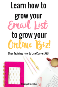 Have you been trying to figure out how to grow your email list? ConvertKit helped me grow my email list by hundreds! Click here for a free training to learn how to gain more subscribers!