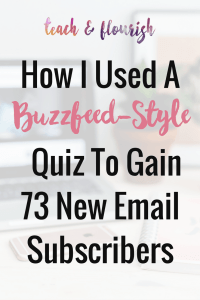 How I Used a Buzzfeed-Style Quiz to Get 73 New Subscribers