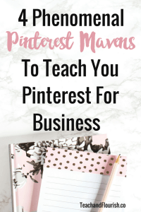 Pinterest is now my #1 source for website traffic and I'm totally kicking myself for not having focused on Pinterest for business sooner! Click here to learn more about the 4 Pinterest Mavens who taught me how to use Pinterest properly.