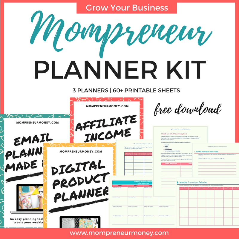 Free Printable Planners to Grow Your Mompreneur Business