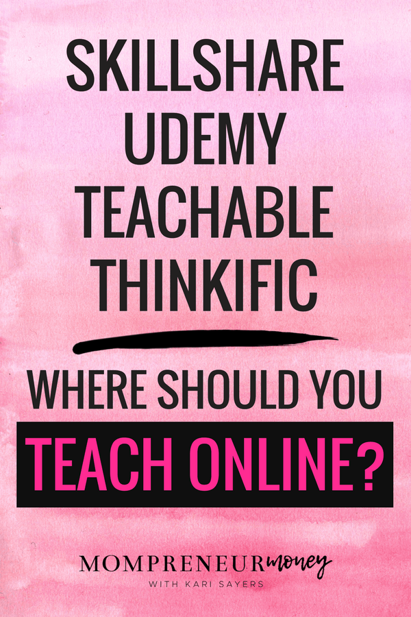 There are tons of places to teach online classes. How do you choose which platform is best for you? This post covers 4 popular places to teach online.