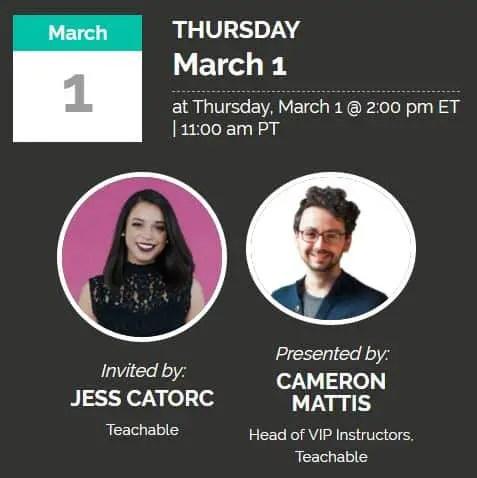 Upcoming Partner Webinars: Teachable Quickstart