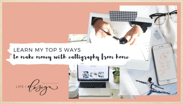 How to Make Money with Calligraphy from Home