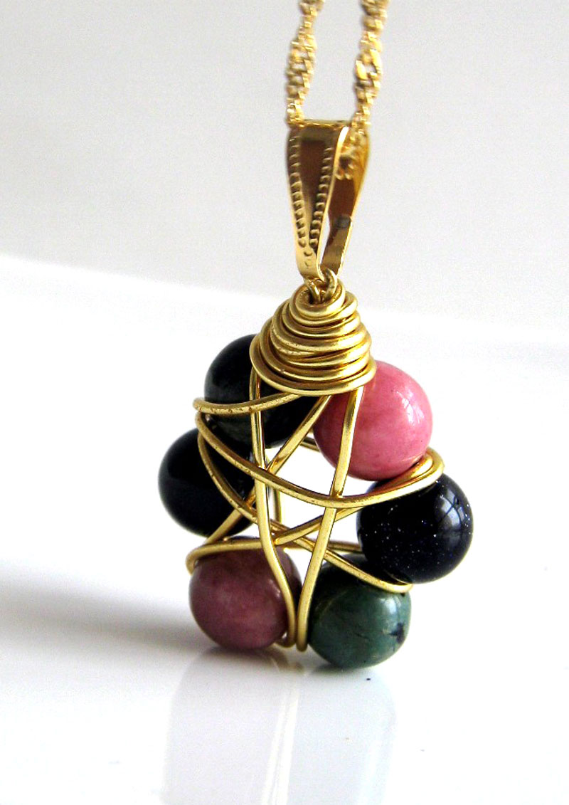 Simple wire wrapped pendants aloadofball