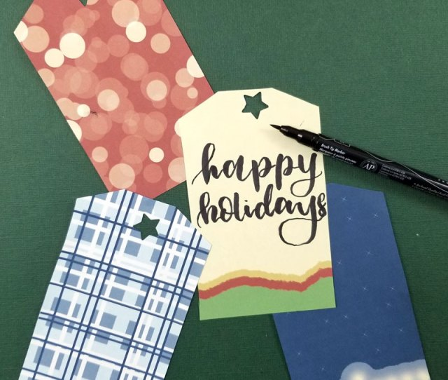 These Holiday Gift Tags Are A Pretty Large Size I Made It That Way As Its Easier To Print Smaller Than Bigger This Way It Works For Your Larger Gifts