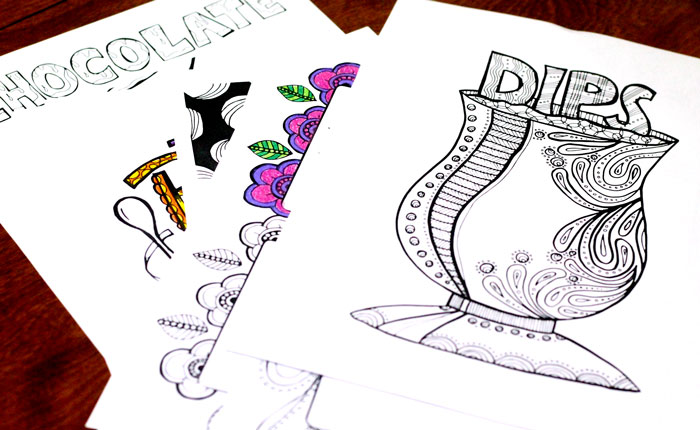 Color In Recipe Binder Coloring Book For Grown Ups