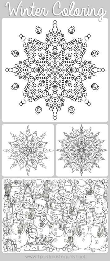 Free Printable Winter Coloring Pages For Adults Moms And