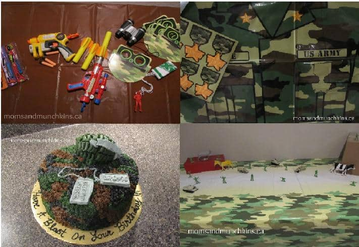 Camo Birthday Party Ideas For Kids Moms Amp Munchkins