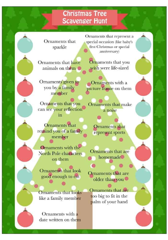 Christmas Tree Game Scavenger Hunt Moms Amp Munchkins