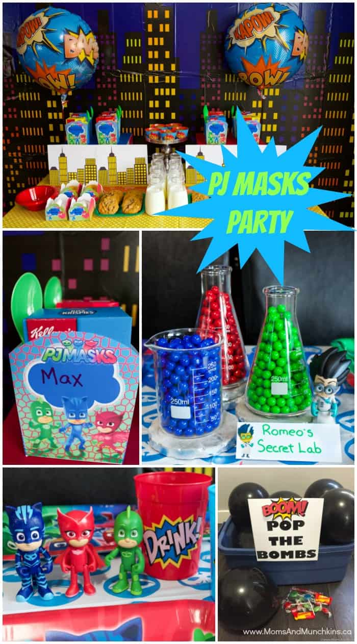 Pj Masks Party Ideas And Printables Moms Munchkins