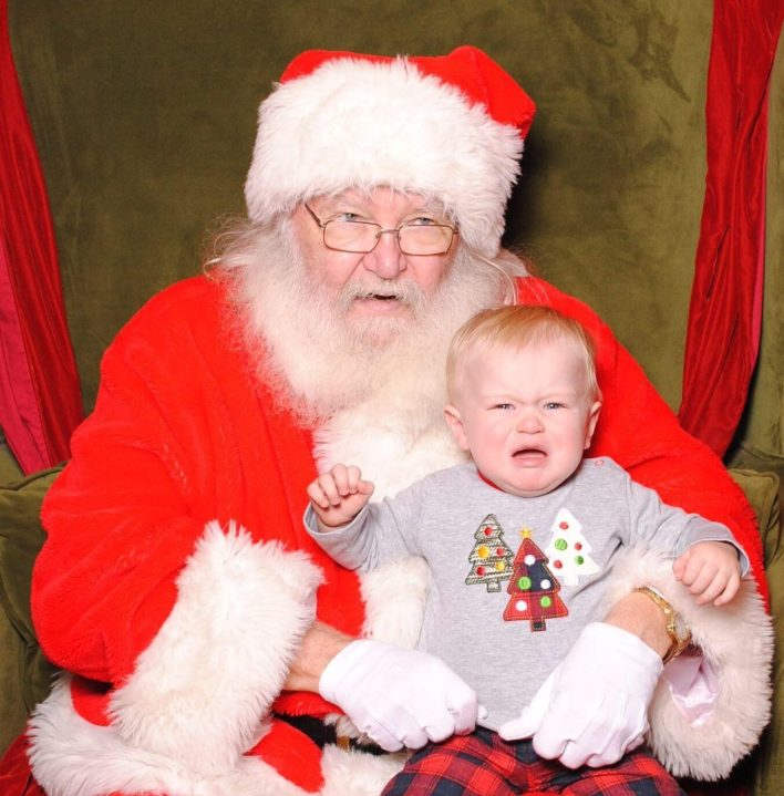 My Little Guy Meets Santa
