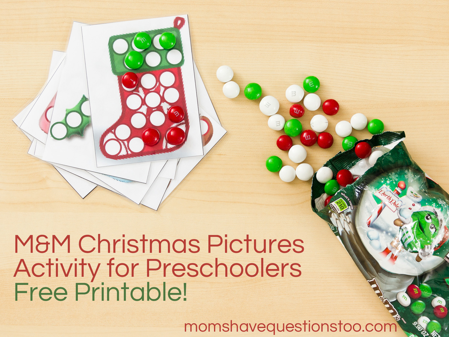 M Amp M Christmas Pictures Activity