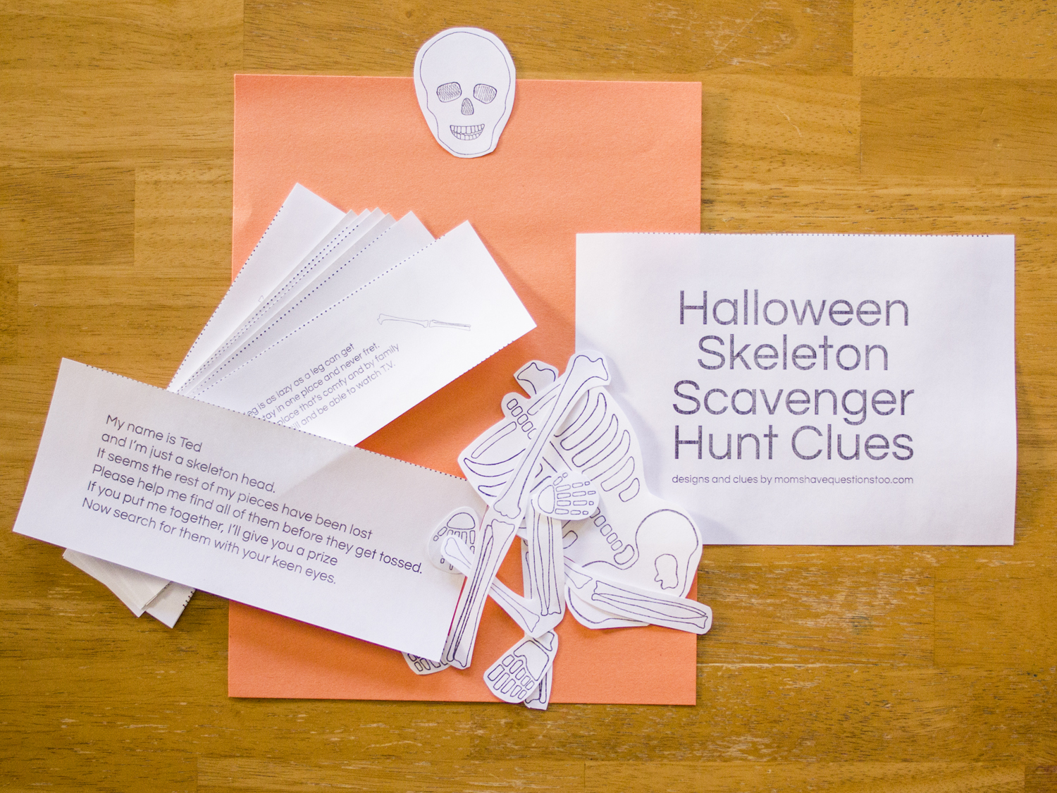 Halloween Skeleton Scavenger Hunt All The Pieces