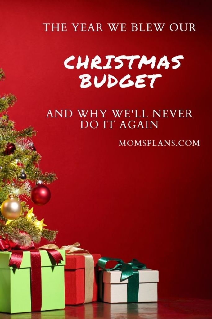 What Happens When You Stray from Your Christmas Budget