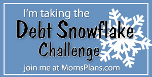 Introducing The Debt Snowflake Challenge - Mom's Plans