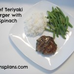 Beef Teriyaki Burger with Spinach – Gluten Free, Dairy Free