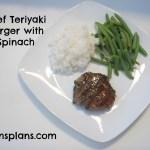 Beef Teriyaki Burger with Spinach – Gluten Free, Dairy Free