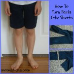 A Simple Sewing Project:  Changing Uniform Pants Into Uniform Shorts