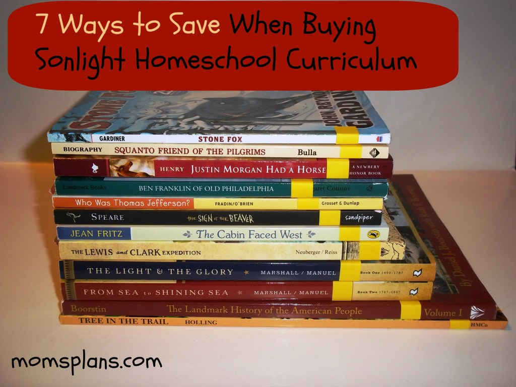 ways to save on Sonlight homeschool curriculum