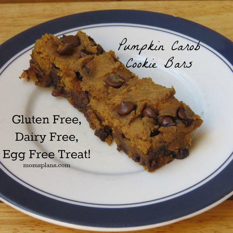 Pumpkin Carob Cookie Bars (Allergen Friendly)