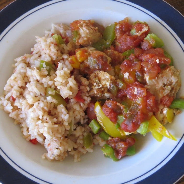 MyFreezEasy Chicken Fajita Bake & Slow Cooker Spanish Rice