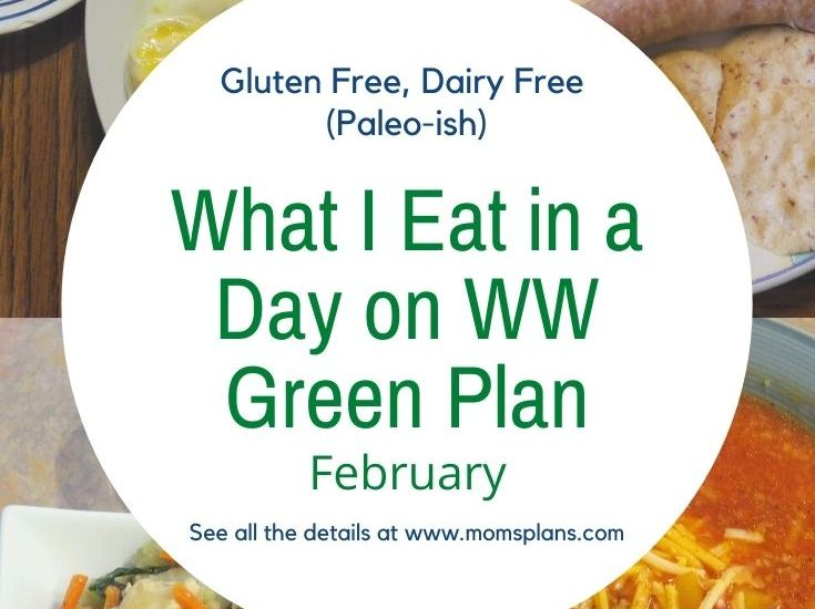 What I Eat in a Day on WW Green Plan – February 2021 (Gluten Free, Dairy Free, Paleo-ish)