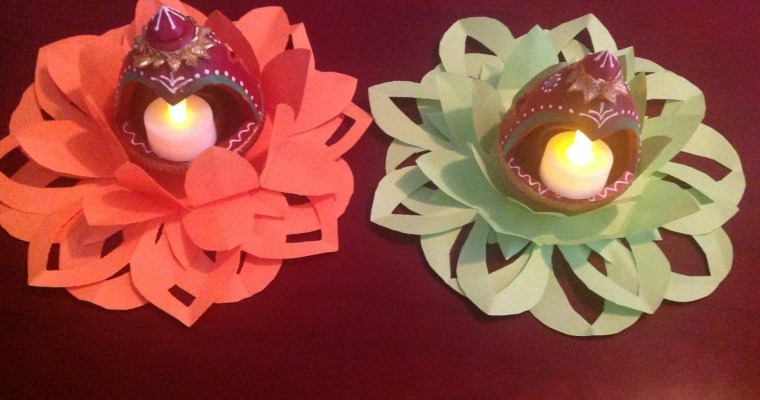 DIY Decorative Tea Light Holder/Diwali Craft