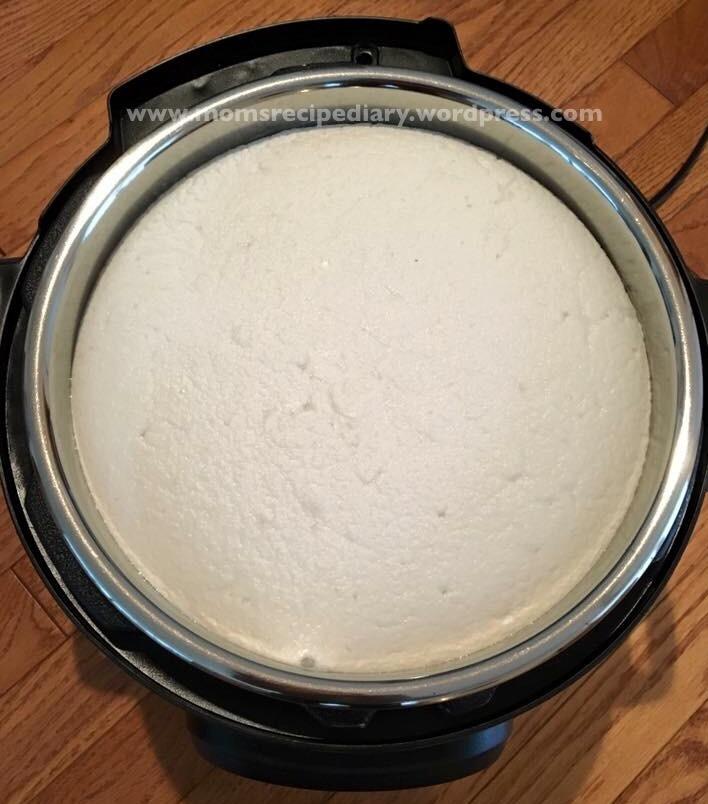 Idli-Dosa Batter  –                                                   Fermenting batter using Instant Pot