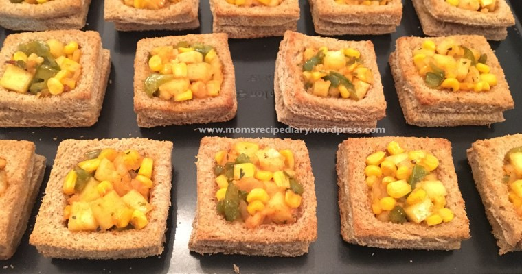 Cheesy Veg Squares