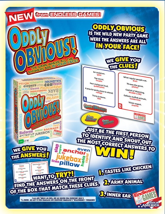 ODDLY OBVIOUS sell sheet 2