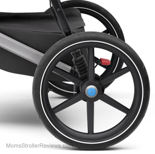 293887a1f ... on Baby Jogger Summit X3. The front-wheel fender helps to deflect mud  splatters and dirt. The maneuverability is outstanding! It glides over  terrain.