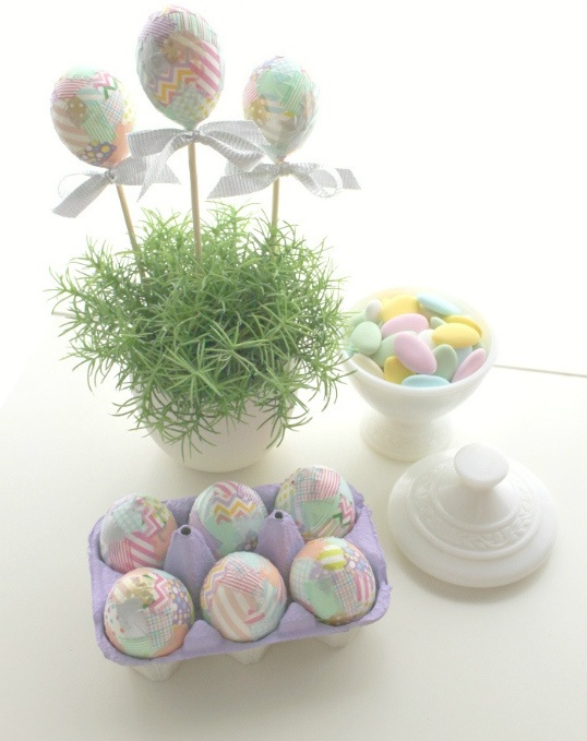 washi eggs from Oh Lovely Day