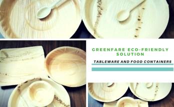 tableware made of Arcan leaf