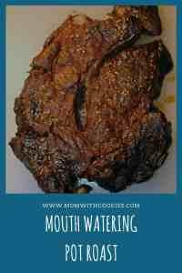 Mouth Watering Pot Roast - www.momwithcookies.com #potroast #crockpotroast