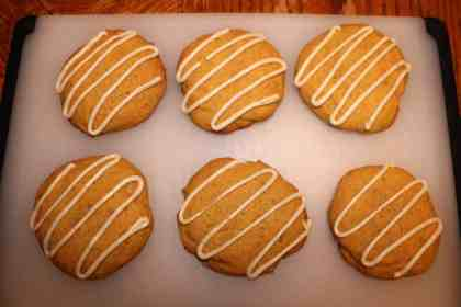 Pumpkin Cookies with Brown Butter Icing - www.momwithcookies.com #pumpkinrecipes #pumpkincookies #cookieswithpumpkin #cookieswithcannedpumpkin #pumpkincookiesrecipes #brownbutter #brownbuttericing #pumpkincookieswithbrownbuttericing #pumpkinspice #pumpkinspicecookies #falldesserts #pumpkindesserts #pumpkinspicedesserts