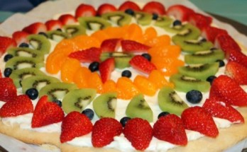 Delicious Fruit Pizza Recipe - www.momwithcookies.com #fruitpizza #fruitpizzarecipe #fruitpizzawithcreamcheese #fruitpizzasugarcookie #fruitpizzaeasy #bestfruitpizza #homemadefruitpizza