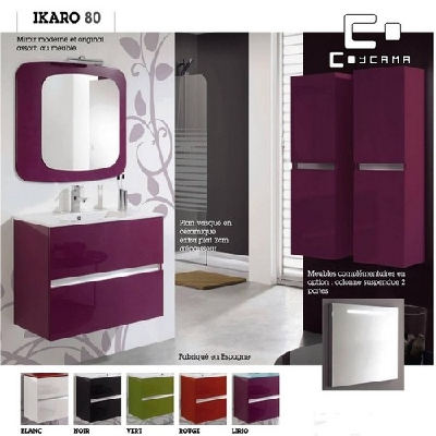 meuble de salle de bain coycama serie ikaro 80 cm