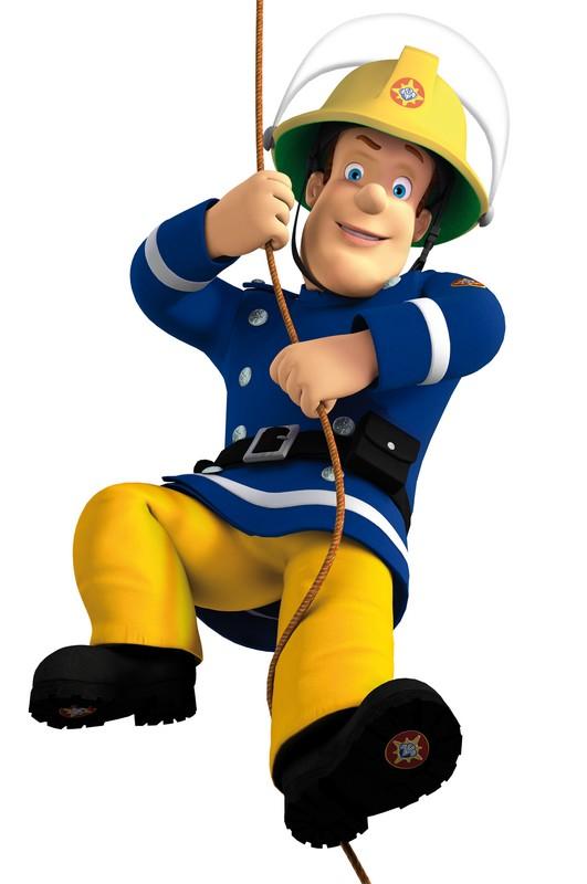 pompier dessin sam pompier a colorier