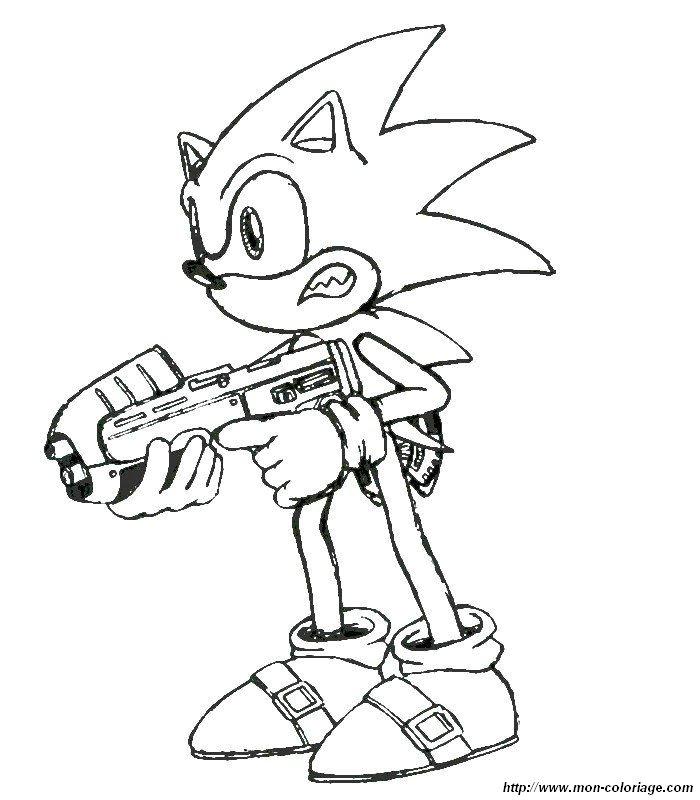Coloriage De Sonic Dessin 009 Colorier