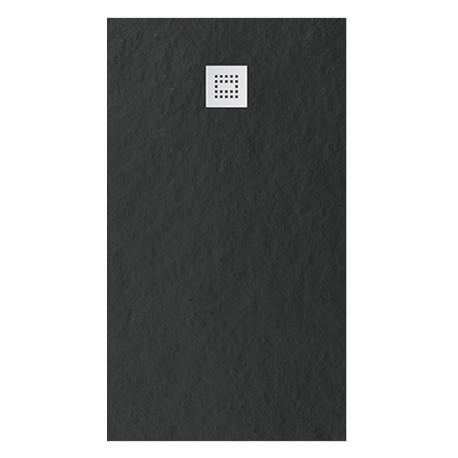 receveur en solid surface ep 2 8 cm 160 x 80 cm anthracite stone lombardi