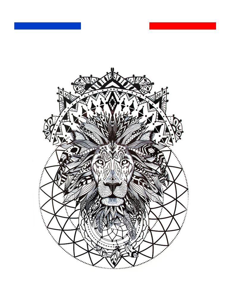 Tatouage Lion Femme Dos 9 Gambarkucing