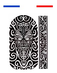 Tatouage Maori bras épaule temporaire