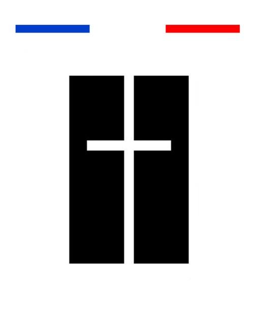 Tatouage Croix Fond Noir Homme Femme