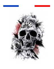 Tatouage tête de mort réaliste