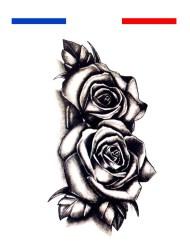 Tatouage double rose poignet temporaire