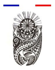 Tatouage Maori Bras Mollet - Noir