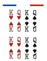 tatouage king & queen temporaire doigts