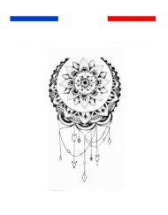 Tatouage Mandala Lune poignet