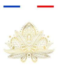 Fleur de Lotus Yoga Tatouage Temporaire Métallique Underboobs