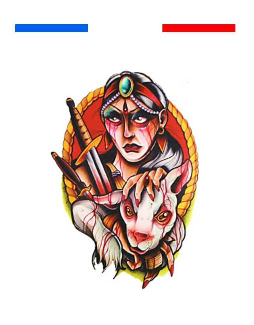 tatouage old school couleur chasseur indien vs brebis